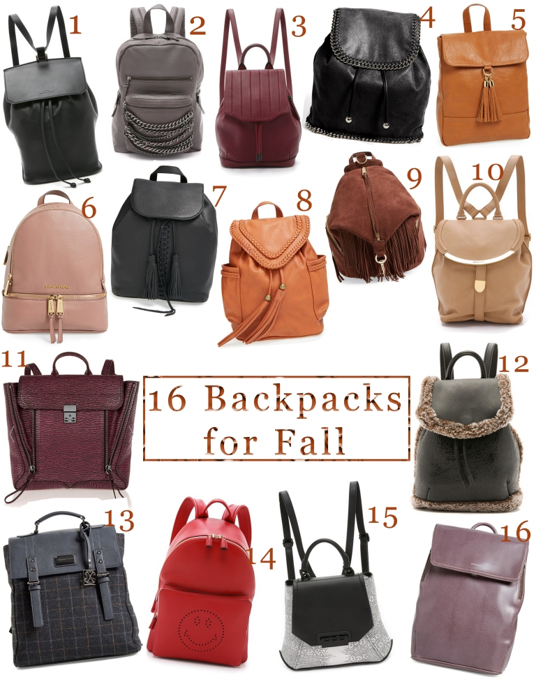 16 Backpacks for Fall