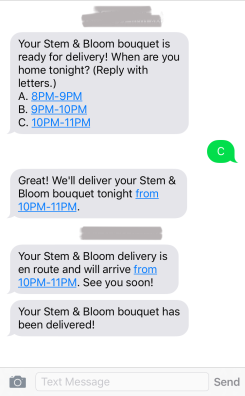Stem & Bloom Text